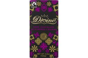 Divine Dark Chocolate With Almonds & Raisins
