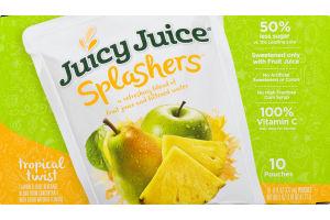 Juicy Juice Splashers Juice Pouches Tropical Twist- 10 CT