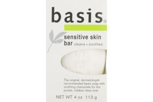 Basis Cleans and Smoothes Sensitive Skin Bar