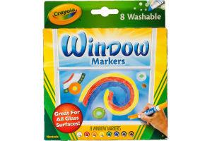 Crayola Window Markers Washable - 8 CT