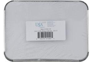 USA Foil 2 & 1/4 LB Oblong Pan With Lids - 20 CT