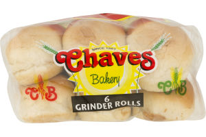 Chaves Bakery Bread Grinder Rolls - 6 CT