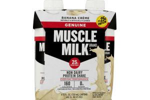 Muscle Milk Non Dairy Protein Shake Banana Creme - 4 CT