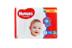 Підгузники для дітей 4-9кг 3 Classic Huggies 96шт