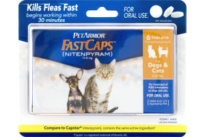 Pet Armor Fast Caps Nitenpyram for Dogs & Cats 2-25 Lbs - 6 CT