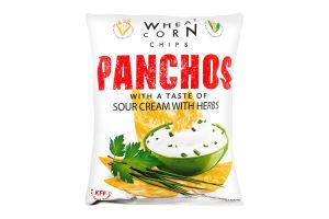 Чіпси пшенично-кукурудзяні зі смаком сметана з зеленню Panchos м/у 82г