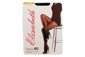 Колготки женские Elizabeth Classic 40den 4 nero