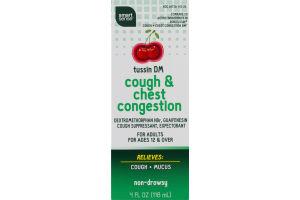 Smart Sense Tussin DM Cough & Chest Congestion Cherry Flavor