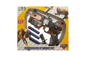 Игрушка бластер трансформер 3 патрона HW-501B