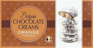 Цукерки Belgian Chocolate Creams Orange Flavour 100г х18