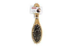 Щітка Тітанія для волосся масажна дерев'яна 8 рядів 2821