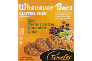 Pamela's Whenever Bars Oat Peanut Butter Chocolate Chip - 5 CT