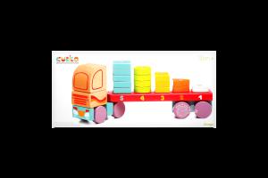 Игрушка Cubika Тягач с Геометр фигурами деревянная
