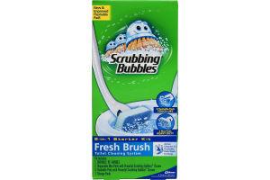 Scrubbing Bubbles Fresh Brush Toilet Cleaning System 2-in-1 Starter Kit