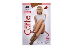 Шкарпетки жіночі Conte Тension 40den nero 2пари