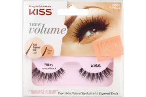 Kiss True Volume 100% Natural Hair Lashes Natural Black