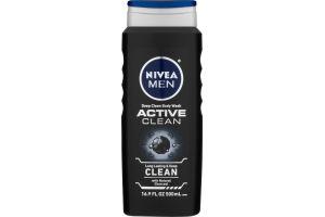 Nivea Men Active Clean Deep Cleansing Charcoal Body Wash