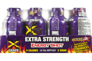 Stacker 2 Extra Strength Energy Shot Xtra Grape - 12 CT