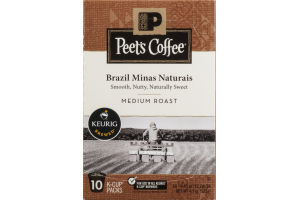 Peet's Coffee Brazil Minas Naturais Medium Roast K-Cup Packs - 10 CT