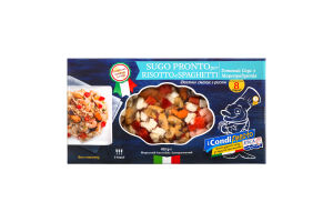 Замороженный Морской Коктейль, Sugo Pronto per Risotto e Spaghetti / Готовий Соус з Морепродуктів, 450*10