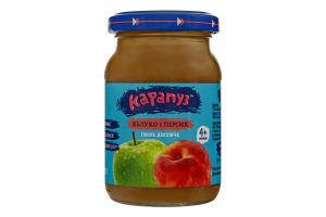 Пюре для детей от 4мес Яблоко и персик Карапуз с/б 170г