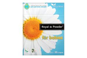Порошок стиральный концентрированный бесфосфатный для детских вещей Royal Powder 3кг