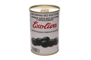 Маслини Exoliva Экстра черные без косточки