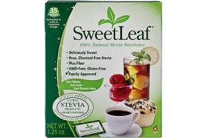 SweetLeaf 100% Natural Stevia Sweetener