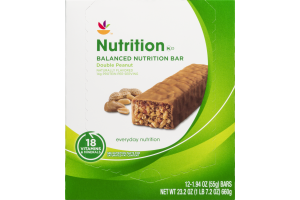 Ahold Nutrition Bar Double Peanut - 12 CT