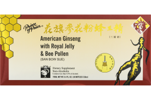 Prince of Peace American Ginseng with Royal Jelly & Bee Pollen Dietary Supplement - 10 CT