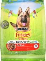 Корм сухий для собак з яловичиною Active Friskies м/у 2.4кг