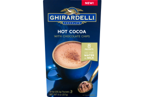 Ghirardelli Chocolate Hot Cocoa With Chocolate Chips Packets - 8 CT