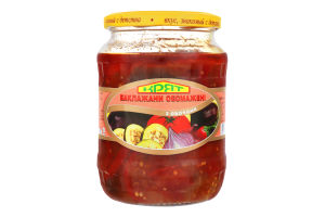 Баклажани обсмажені з овочами Крят с/б 640г