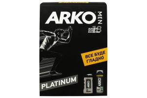 Arko набір MEN Platinum Protection (гель д/гоління,200мл+гель д/душу,250мл)