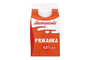Ряженка 4% Яготинська п/п 450г