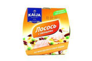Лосось с овощами по-венгерски в соусе карри Kaija ж/б 220г