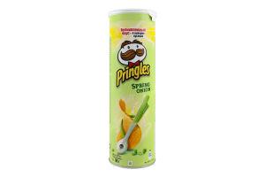 Чипсы картофельные Зеленый лук Pringles тубус 165г