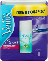 Н-р Venus Змін/кас Swirl 3шт+ГелД/б SatinCare 75мл