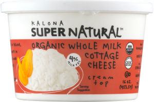 Kalona Super Natural Organic Whole Milk Cottage Cheese
