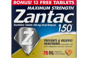 Zantac 150 Maximum Strength Tablet Boxed Bottle - 78ct