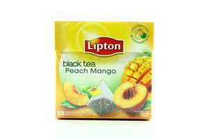 Чай Peach Mango черный с/я Lipton ф/п пирамидка 20*1,8г