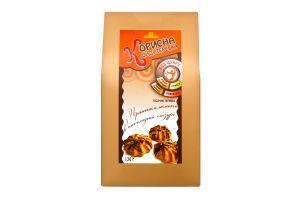 Печиво пісочне З пряженим молоком в шоколадній глазурі Корисна Кондитерська к/у 130г
