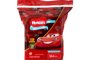 Huggies One & Done Wipes Cucumber & Green Tea Scented - 184 CT