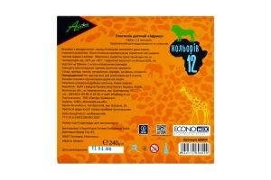 Пластилін для ліплення 12кольорів Africa