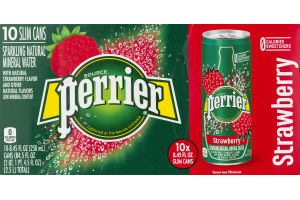 Perrier Sparkling Natural Mineral Water Strawberry - 10 PK