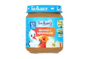 Пюре з яблук и абрикос для дитячого харчування 100г., Беллакт