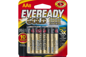 Eveready Gold Batteries AA - 8 CT