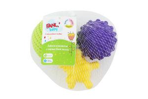 Іграшка розвиваюча для дітей від 1року №ТІН3 Тактилики Fancy baby 3шт