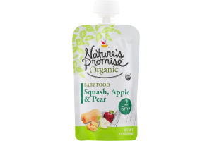 Nature's Promise Organic Baby Food Squash, Apple Pear 6m+