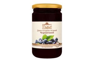 Джем плодово-ягідний пастеризований Чорничний Emmi с/б 375г